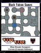 Blue Mosaic Dungeon: Curves (2 square Hallways)
