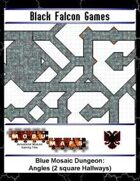 Blue Mosaic Dungeon: Angles (2 square Hallways)