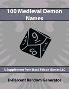 D-Percent - 100 Medieval Demon Names