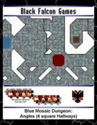 Blue Mosaic Dungeon: Angles (4 square Hallways)