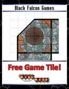 Blue Mosaic Dungeon: Angles (4 square Hallways) - Free-4-All Tile
