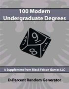 D-Percent - 100 Modern Undergraduate Degrees