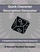 D-Percent - Quick Character Description Generator