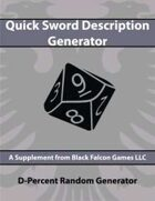 D-Percent - Quick Sword Description Generator