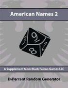 D-Percent - American Names 2