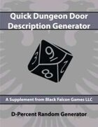D-Percent - Quick Dungeon Door Description Generator
