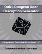 D-Percent - Quick Dungeon Door Description Generator