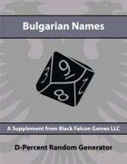 D-Percent - Bulgarian Names