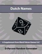 D-Percent - Dutch Names