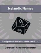 D-Percent - Icelandic Names