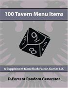 D-Percent - 100 Tavern Menu Items