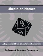 D-Percent - Ukrainian Names