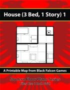 Modern Floor Plans - House (3Bed, 1 Story) 1