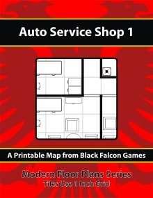 Modern floor plans auto service shop 1 black falcon for Truck repair shop floor plans