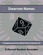 D-Percent - Dwarven Names