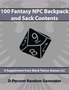 D-Percent - 100 Fantasy NPC Backpack and Sack Contents