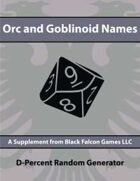 D-Percent - Orc and Goblinoid Names