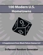 D-Percent - 100 Modern U.S. Hometowns