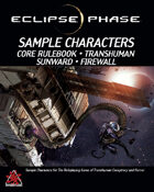 Eclipse Phase: Core Sample Characters (first edition)