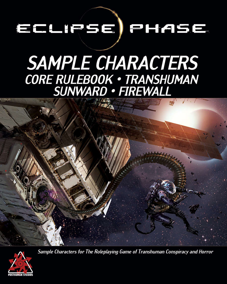 Eclipse Phase: All Sample Characters (first edition)
