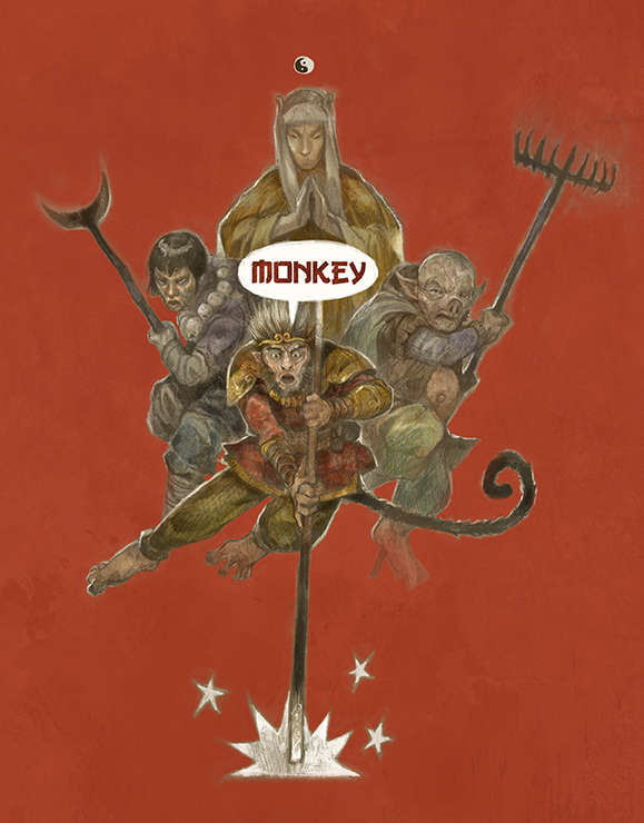 The cover of Monkey: The Roleplaying Game