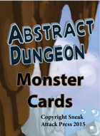 Abstract Dungeon Monster Cards: Undead, Giants, and Oozes