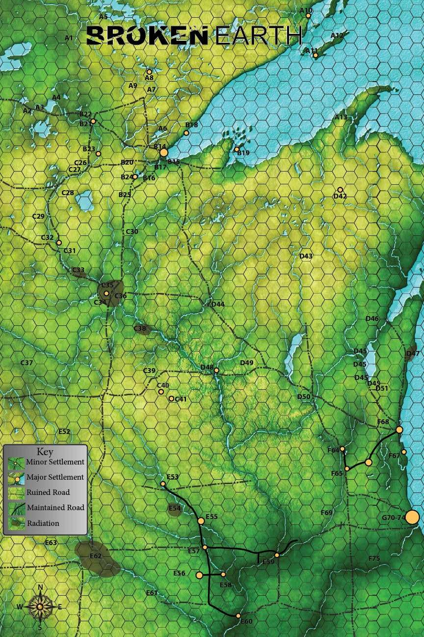 Broken Earth Map   Sneak Attack Press | DriveThruRPG.com