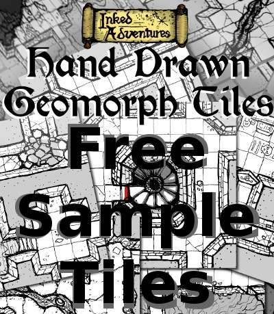 Free Sample Hand Drawn Geomorph Tiles Inked Adventures