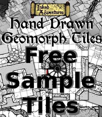 Free Sample Hand Drawn Geomorph Tiles Inked Adventures