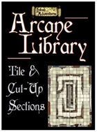 Arcane Library Tile and Sections (Inked Adventures)