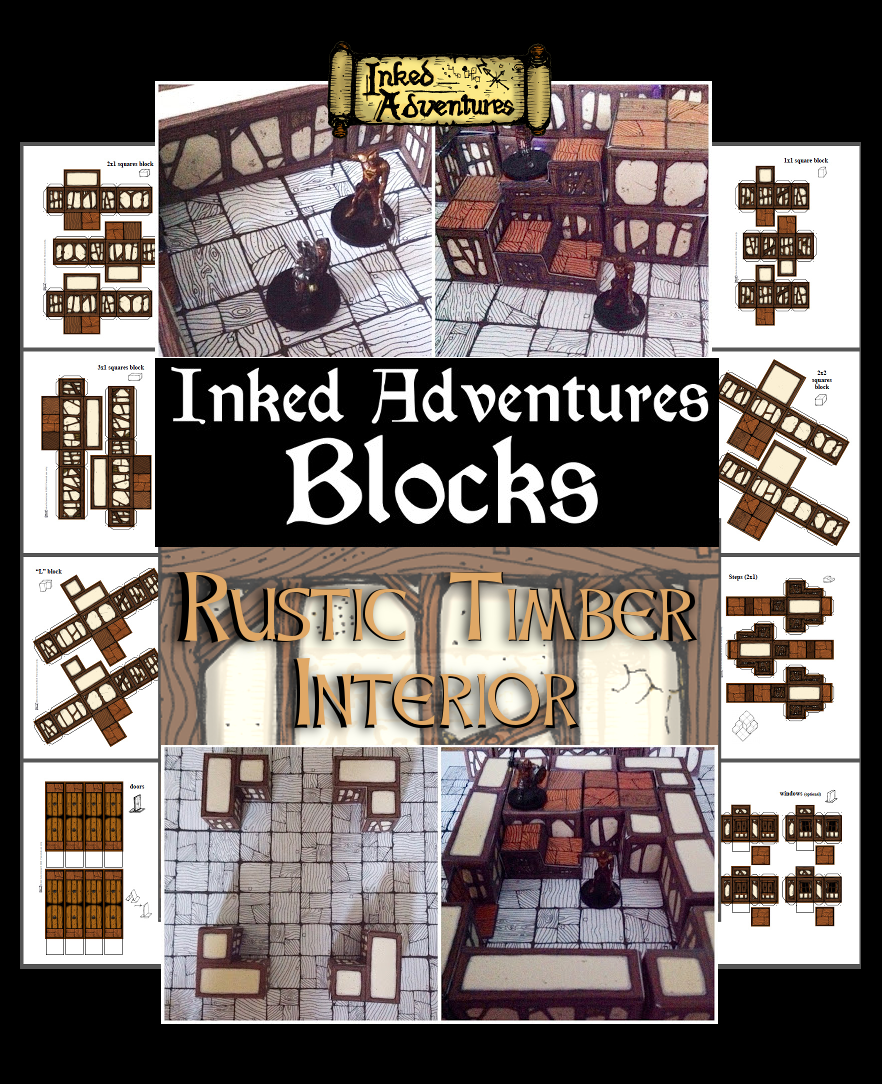 Inked Adventures Blocks Rustic Timber Interior