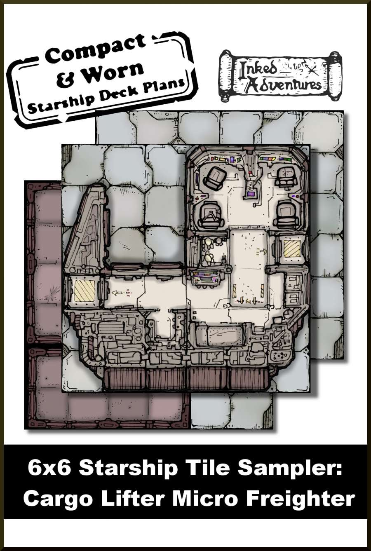 6x6 Starship Tile Sampler: Cargo Lifter Micro Freighter