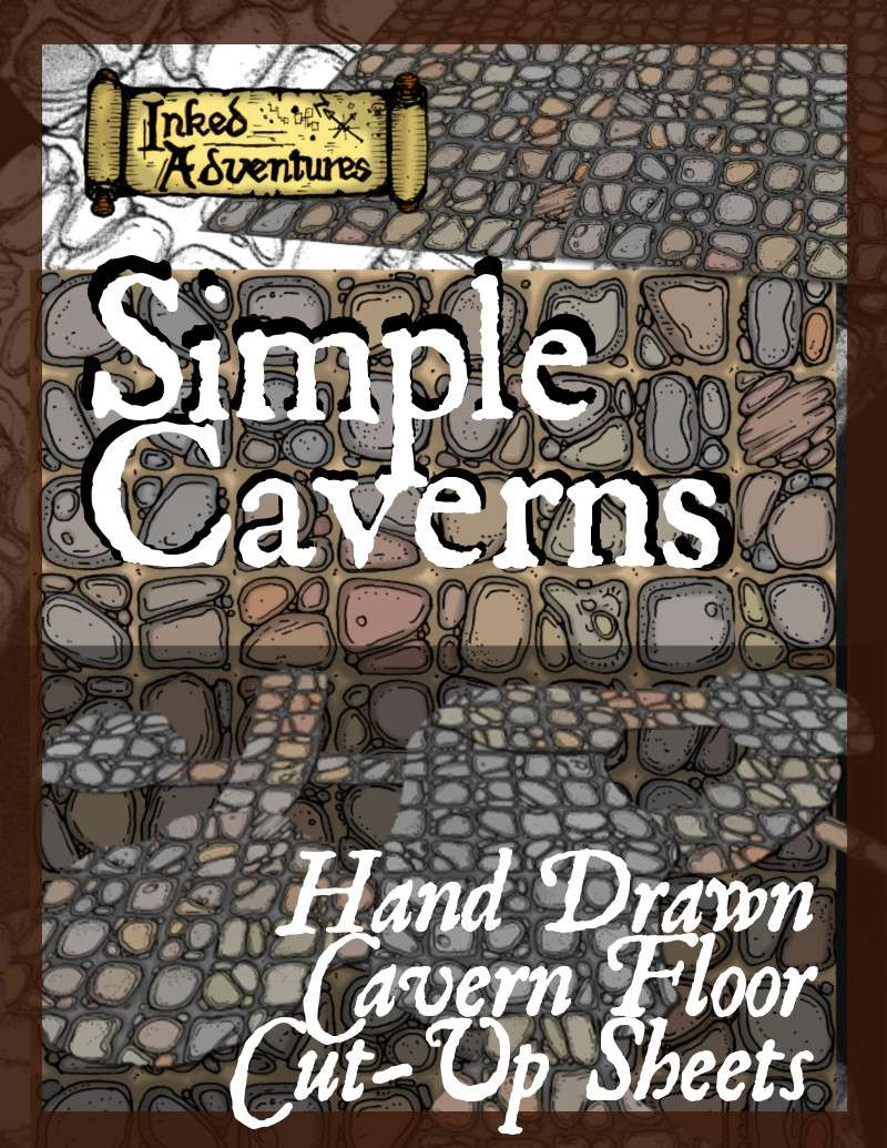 Simple Caverns Cut-Up Sheets