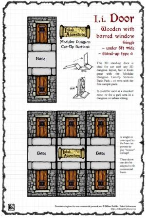 Inked Adventures: Small Dungeon Door