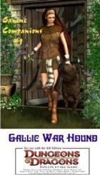 Canine Companions #1; Gallic War Hound