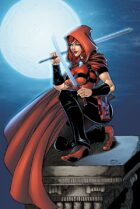 Scarlet Huntress rooftop