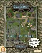 "The Ravenlands Bundle 1: Castle and Village (1-1/2"" square = 5')"