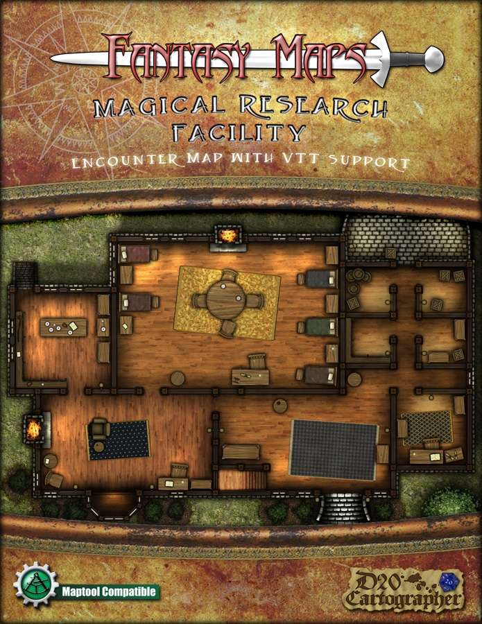 Fantasy Maps: Magical Research Facility