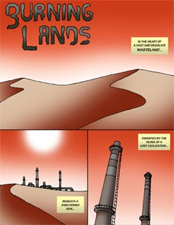 Burning Lands Comic #1