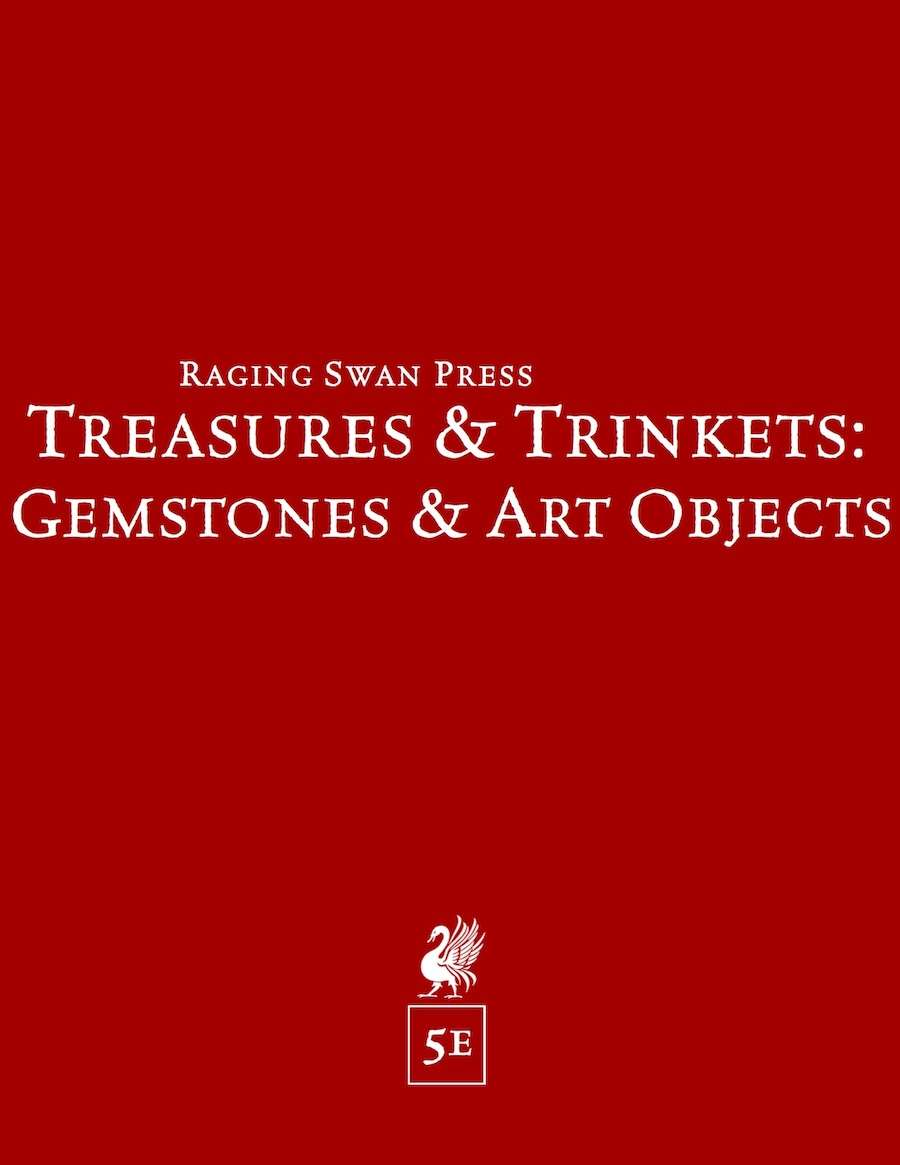 Treasures & Trinkets: Gemstones & Art Objects (5e)