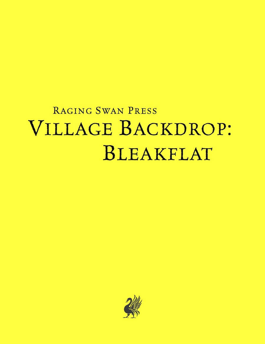 Village Backdrop: Bleakflat System Neutral Edition