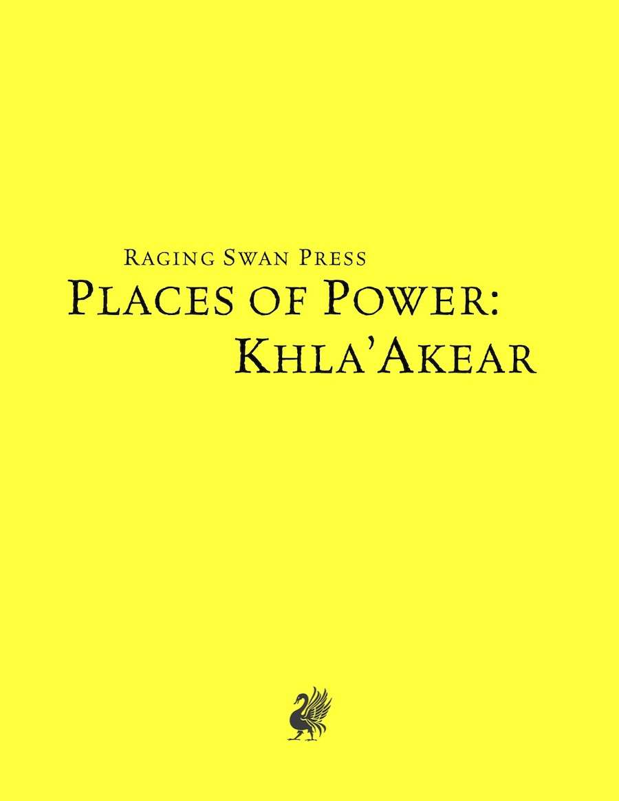 Places of Power: Khla'Akear (SNE)