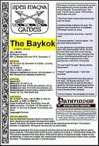 The Baykok (PFRPG)