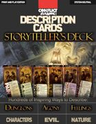 Description Cards: Storytellers Deck - Creative Inspiration for Writers, Storytellers and GMs. Contains 80 Cards