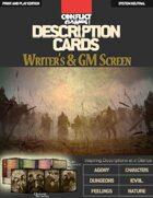 Combat Description Card Writer's & GM Screen