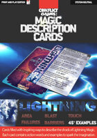 Magic Description Cards: LIGHTNING MAGIC