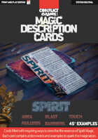 Magic Description Cards: SPIRIT MAGIC
