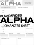 Metamorphosis Alpha RPG - Character Sheet