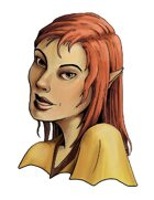 Stock Portraits: Female Half-Elf