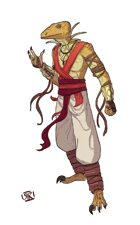Stock Art: Raptor Monk
